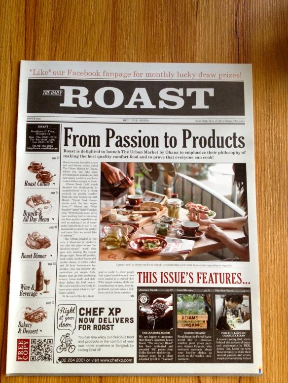 Roast Newspaper Menu