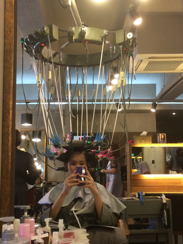 Alien at hair salon