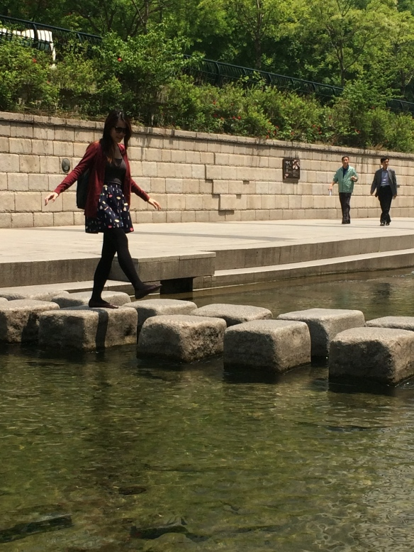 Rocks at Cheonggyecheon