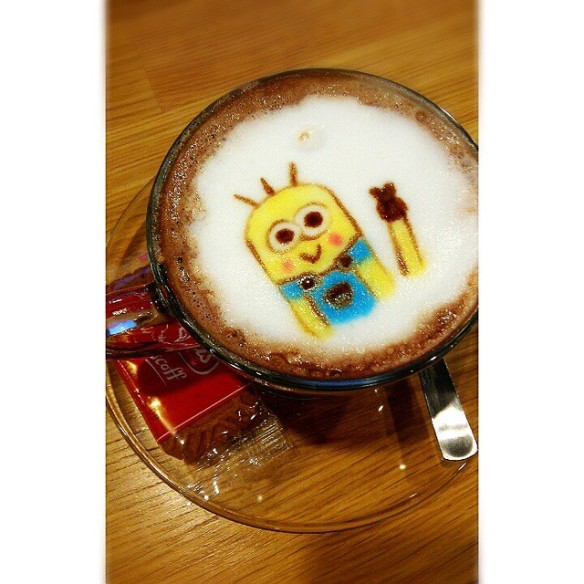 Minion Latte Art