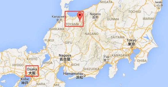 Osaka to Tateyama