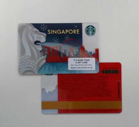 Starbucks Singapore 2015 Merlion Card