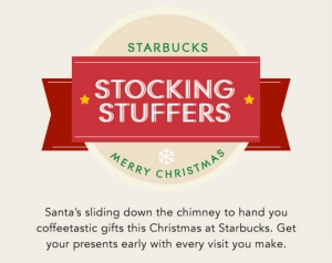 Starbucks Stocking Stuffers