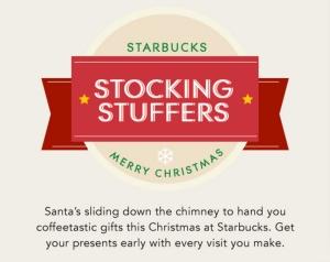 Starbucks Stocking Stuffers