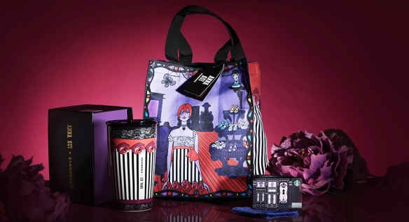 Starbucks x Anna Sui Mug Tote Card Set