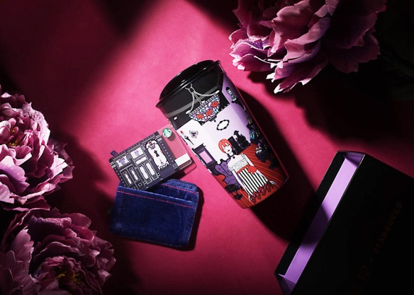 Starbucks x Anna Sui Mug Card Set